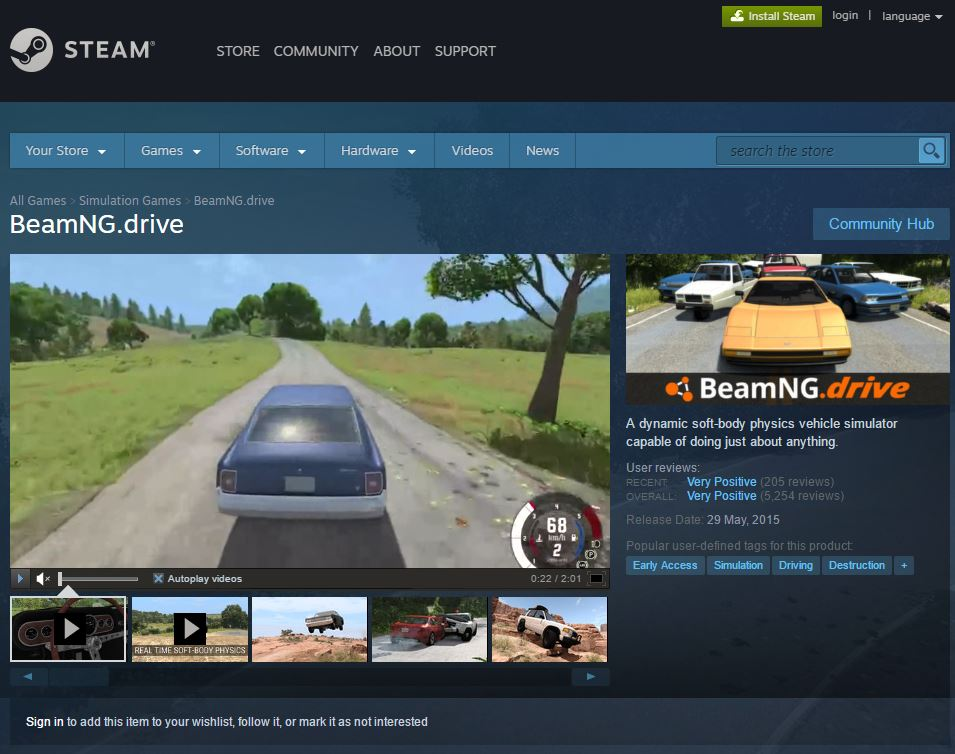 how to play beamng drive